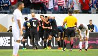Estados Unidos goleó 4-0 a Costa Rica. Foto: Reuters.