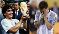 En Argentina el debate está instalado en las diferencias entre Maradona y Messi. Foto: El País