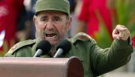 Fidel Castro en un acto del 1 de mayo en 2005 en La Habana. Foto: AFP/ Archivo El País
