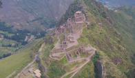 Machu Picchu desde el aire. Foto: Captura de video