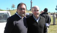 Los intendentes Guillermo Caraballo y Daniel Martínez. Foto: Luis Pérez