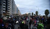 Marcha de motociclistas contra la inseguridad y el crimen en Punta Carretas. Foto: Gerardo Pérez