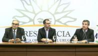 Benech, Roballo y García tras el Consejo de Ministros. Foto: captura Presidencia