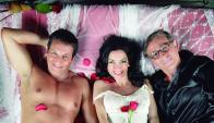 Franklin Rodríguez, Adriana Da Silva y Leonardo Lorenzo con el encanto de Bahia.
