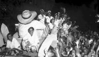 Carro alegórico del desfile de Carnaval de los años 20. Foto: Archivo El Paìs