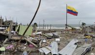 El terremoto causó el derrumbe de cientos de casas. Foto: AFP