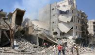 Alepo sigue bajo bombardeos y sin poder recibir la ayuda humanitaria que habilitaría la tregua. Foto: Reuters.