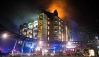 Incendio en hospital de Alemania. Foto: AFP
