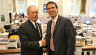 Cánepa junto a Bloomberg en Nueva York. Foto: Presidencia uruguaya