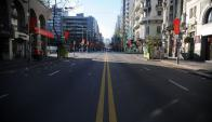 Montevideo durante el paro general del Pit-Cnt. Foto: Fernando Pozzetto