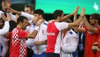 En dobles.  Marin Cilic e Iván Dodig le ganaron ayer a Del Potro y a Leonardo Mayer. Foto: Reuters