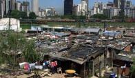 Modernidad y pobreza en el paisaje urbano de estos tiempos