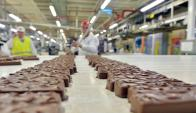 Fabrica de chocolates Mars. Foto: AFP