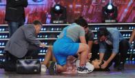 Anita Martínez preocupó a todo piso de ShowMatch (Foto: Ideas del Sur)