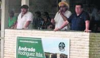 Martín, Luis Aparacio y Luis Enrique Andrade en Durazno. Foto: Víctor D. Rodríguez