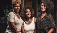 Emprendedoras. Santos, Vieira y Aquino dicen que la poca oferta hace que las mujeres desistan de usar maquillaje. (Foto: O Globo/GDA)