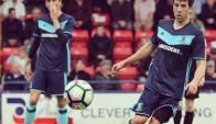 Carlos de Pena en el primer partido de pretemporada de Middlesbrough. Foto: @Boro
