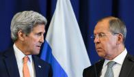 John Kerry junto con Sergei Lavrov en Ginebra. Foto: AFP