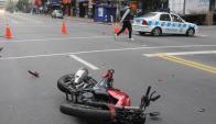 Accidente: joven se entregó por choque en 18 de Julio. Foto: Francisco Flores