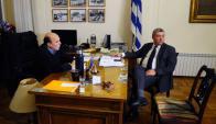 El intendente Martínez se reunió con el presidente de Cutcsa, Salgado. Foto: F. Ponzetto