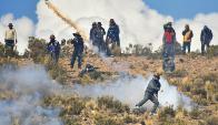 Los mineros sindicalizados mantienen un duro enfrentamiento con Evo. Foto: Reuters