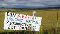 En la región cercana a las minas que explotará Aratirí, las opiniones están enfrentadas. Marcelo Bonjour