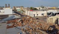 La reconstrucción de Dolores avanza lentamente. Foto: Gustavo Uttermark