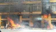 Así quedó el ayuntamiento de El Alto. Foto: @ErbolDigital.