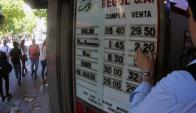 El dólar estaba por encima de $ 28,75 a la venta a fines de octubre. Foto: F. Ponzetto