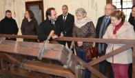 La directora general de Unesco Irina Bokova recorrió ayer las instalaciones del ex frigorífico. Foto: D. Rojas