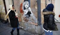 Bansky: la imagen que sorprendió a los transeúntes en Londres. Foto: Reuters.