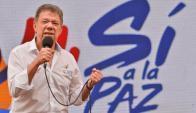 Juan Manuel Santos ganó el Nobel de la Paz. Foto: AFP.