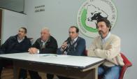 Gremiales: Diringuer (IPL), Rodríguez (SPLF), Braga y Frisch (ANPL). Foto: F. Flores