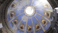 Obras de Martín Perlasca , pintor suizo, en la capilla del Santísimo en la Catedral de San José. Foto: M. Bonjour