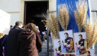 Cientos de creyentes visitaron el domingo al Patrono del pan y del trabajo. Foto: D. Borrelli