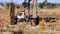 Hasta fin de mes continurá la construcción, la obra se retomaría en enero. Foto. M. Bonjour