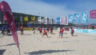 La Rinconada. El beach-volley es sensación en Piriápolis.