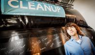 """Boyan Slat ganó el premio """"Campeones de la Tierra"""" por su proyecto. Foto: AFP"""