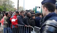 Desmantelamiento de Calais. Foto: Reuters.