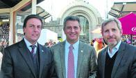 Ricardo Reilly junto a Etchevere y al ministro Rogelio Frigerio. Foto: Pablo Mestre.