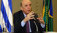 El canciller brasileño, José Serra, se reunió con Novoa. Foto: F. Ponzetto