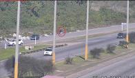 Tres jóvenes apedrearon vehículos en la ruta 5. Foto: Ministerio del Interior.
