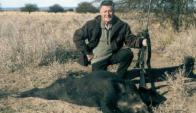 Lucho Avilés, apasionado de la caza de jabalíes en Aiguá