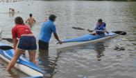Durazno. La Escuela funcionará en las aguas del río Yí. Foto: Víctor Rodríguez