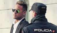 Neymar: imagen del 2 de febrero en el juzgado de la Audiencia Nacional. Foto: EFE