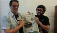 Nacho Alcuri y Leo Lagos en los estudios de El País.Tv