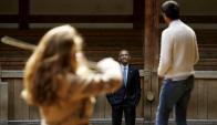 Obama en el Globe Theatre de Londres. Foto: Reuters