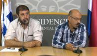 Marcelo Abdala y Fernando Pereira, del Pit-Cnt. Foto: Presidencia