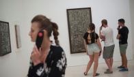 Torres García: un moderno en la Arcadia llegó hasta el Museo Picasso de Málaga. Foto: AFP