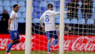 Michael Santos anotó un doblete en el Málaga. Foto: EFE
